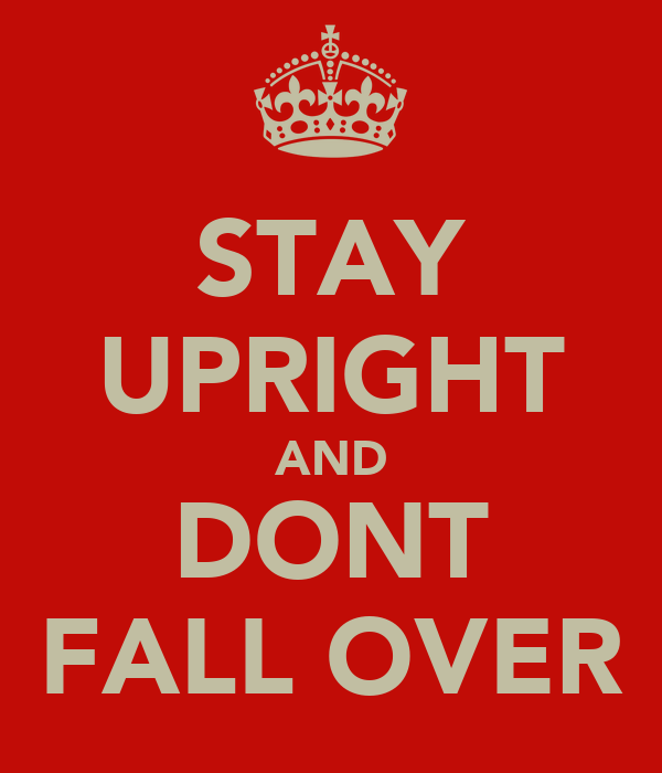 STAY UPRIGHT AND DONT FALL OVER