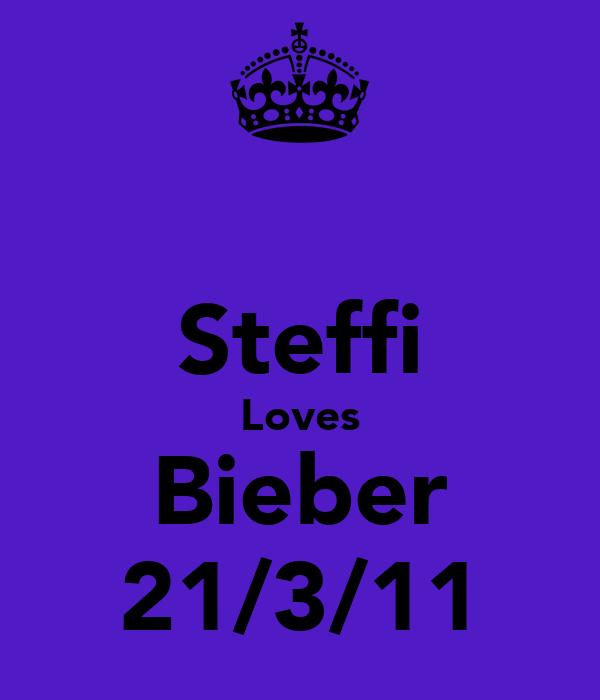 Steffi Loves Bieber 21/3/11