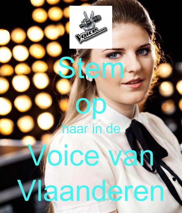 Stem op haar in de Voice van Vlaanderen