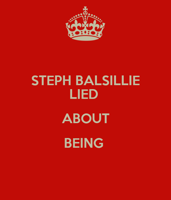 STEPH BALSILLIE LIED  ABOUT BEING