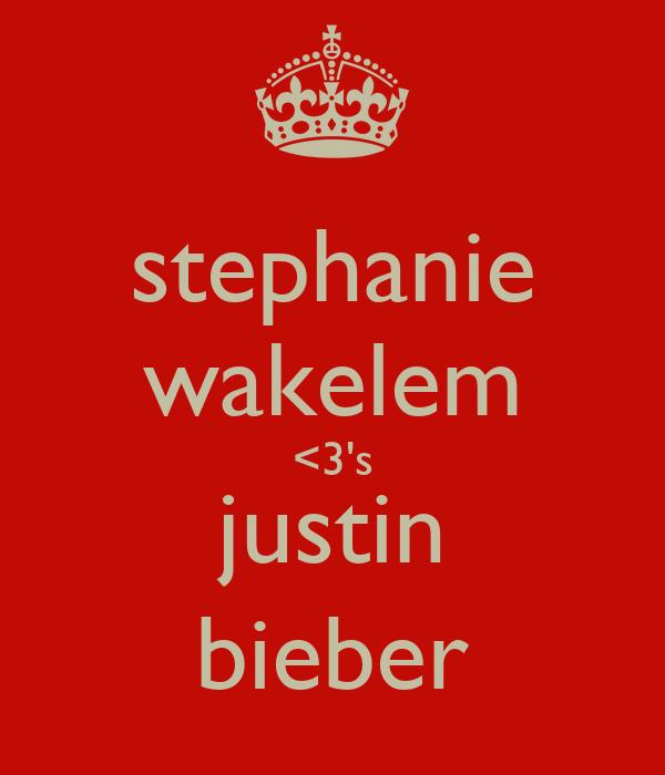 stephanie wakelem <3's justin bieber