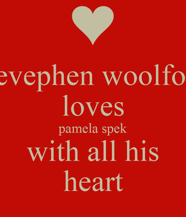 stevephen woolford loves pamela spek with all his heart