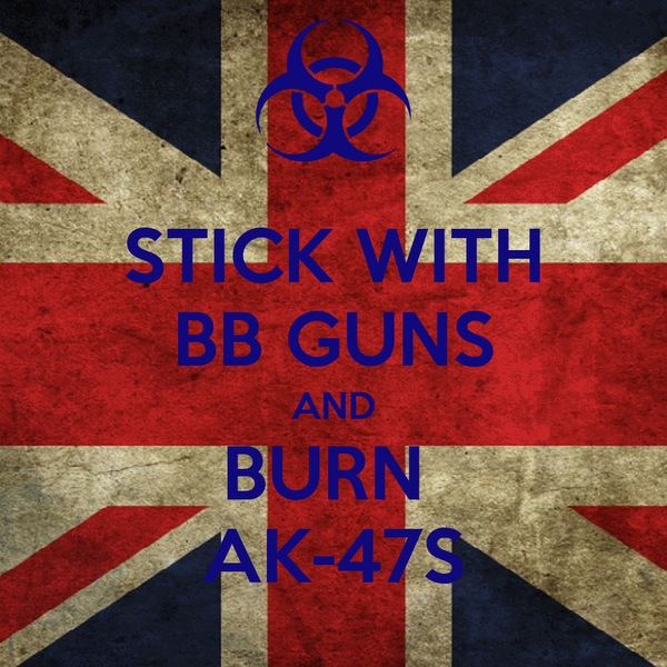 STICK WITH BB GUNS AND BURN  AK-47S