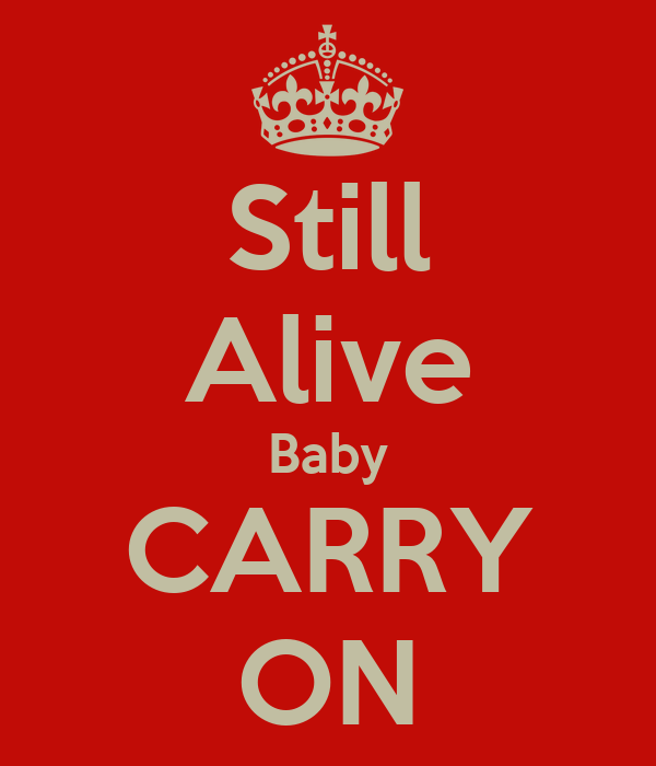 Still Alive Baby CARRY ON