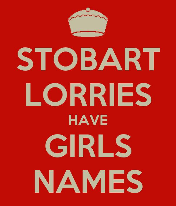 STOBART LORRIES HAVE GIRLS NAMES