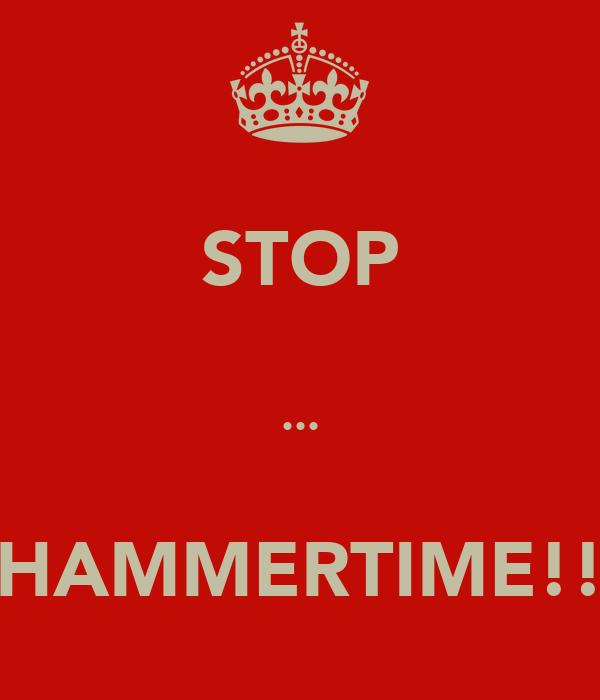 STOP  ...  HAMMERTIME!!