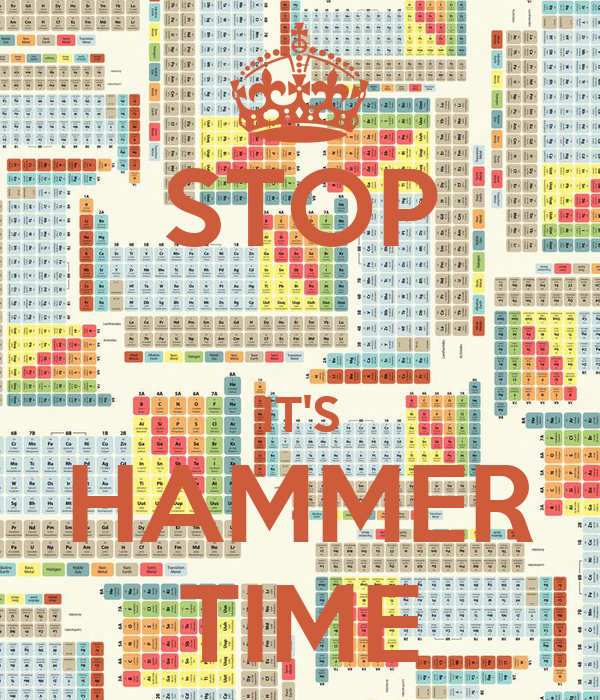 STOP  IT'S HAMMER TIME