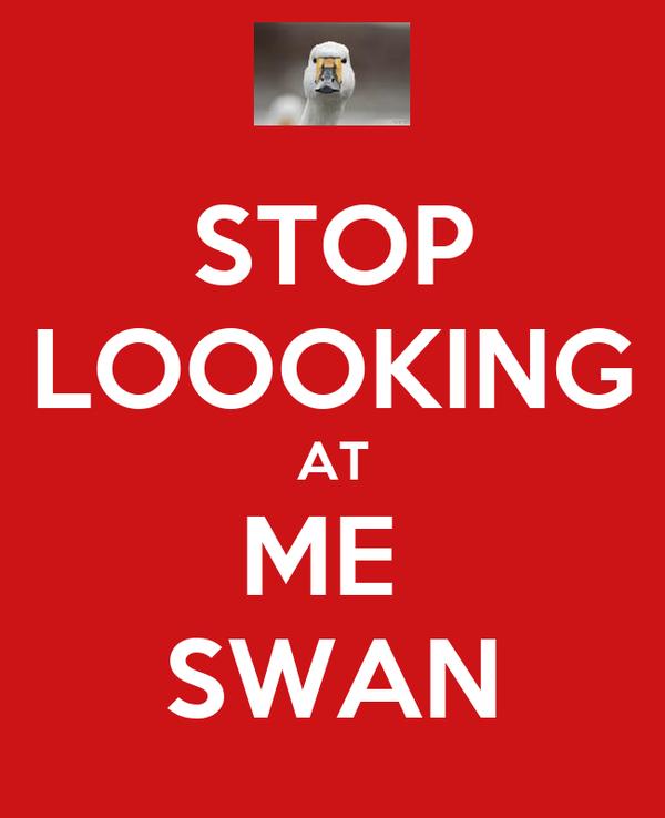 STOP LOOOKING AT ME  SWAN