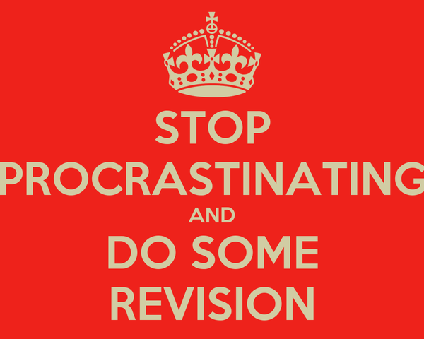 STOP PROCRASTINATING AND DO SOME REVISION