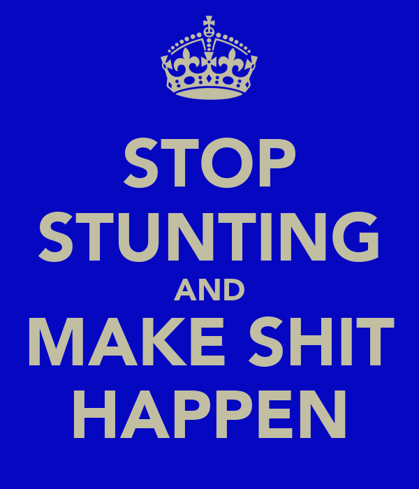 STOP STUNTING AND MAKE SHIT HAPPEN