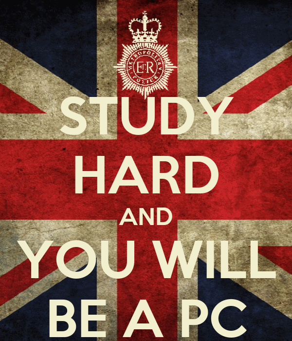STUDY HARD AND YOU WILL BE A PC
