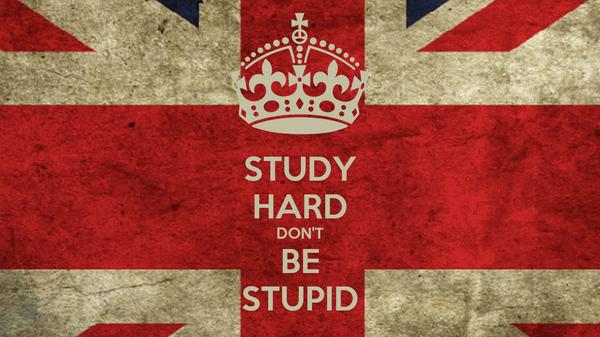 STUDY HARD DON'T BE STUPID