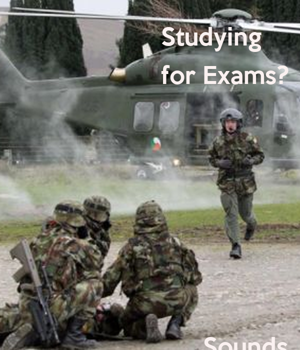 Studying  for Exams?             Sounds      Stressful