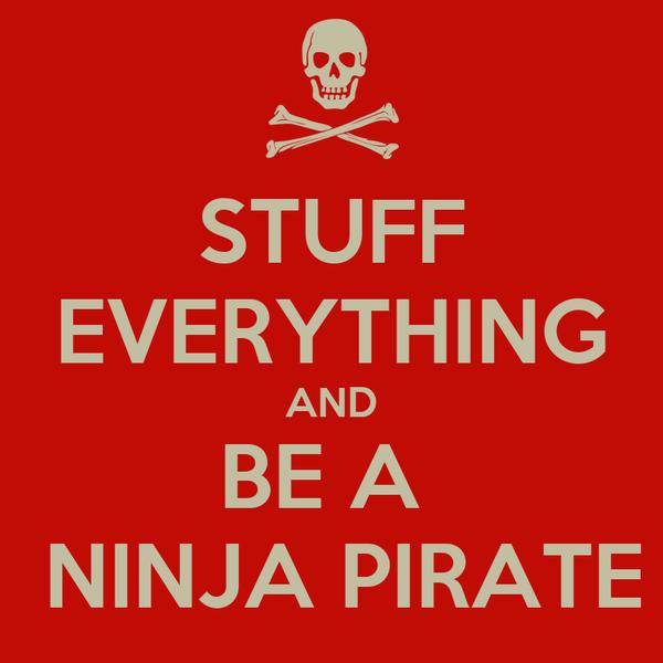 STUFF EVERYTHING AND BE A   NINJA PIRATE