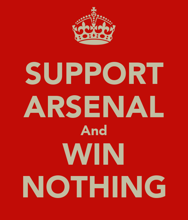 SUPPORT ARSENAL And WIN NOTHING