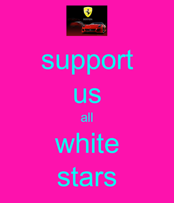 support us all white stars