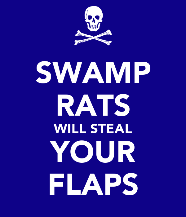 SWAMP RATS WILL STEAL YOUR FLAPS