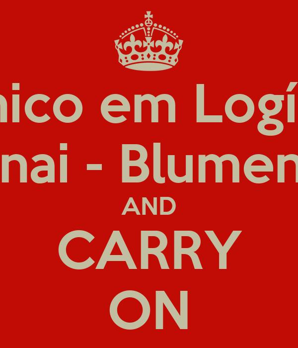 Técnico em Logística Senai - Blumenau AND CARRY ON