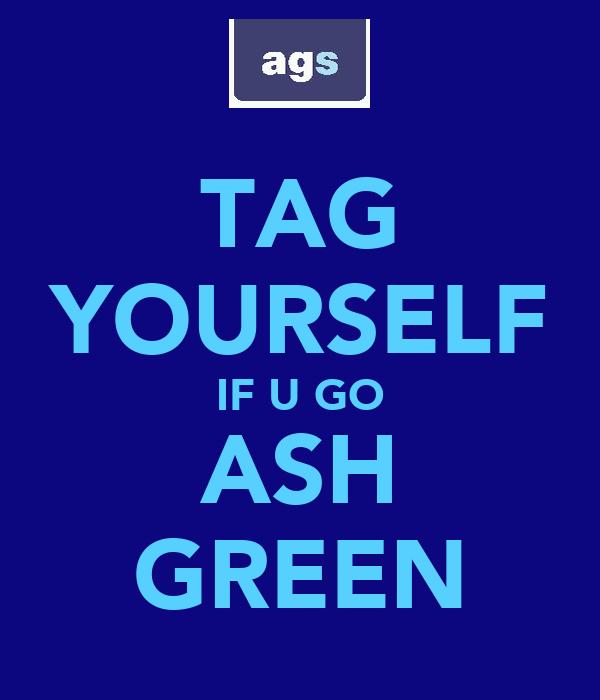 TAG YOURSELF IF U GO ASH GREEN