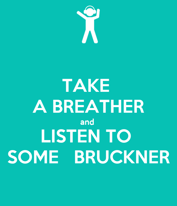 TAKE  A BREATHER and  LISTEN TO  SOME   BRUCKNER