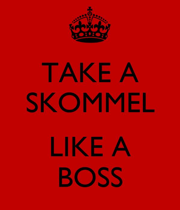 TAKE A SKOMMEL  LIKE A BOSS