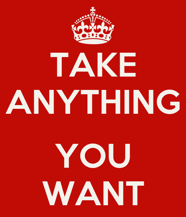 TAKE ANYTHING  YOU WANT