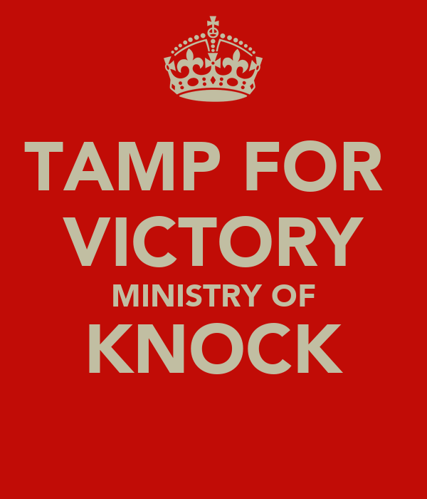 TAMP FOR  VICTORY MINISTRY OF KNOCK
