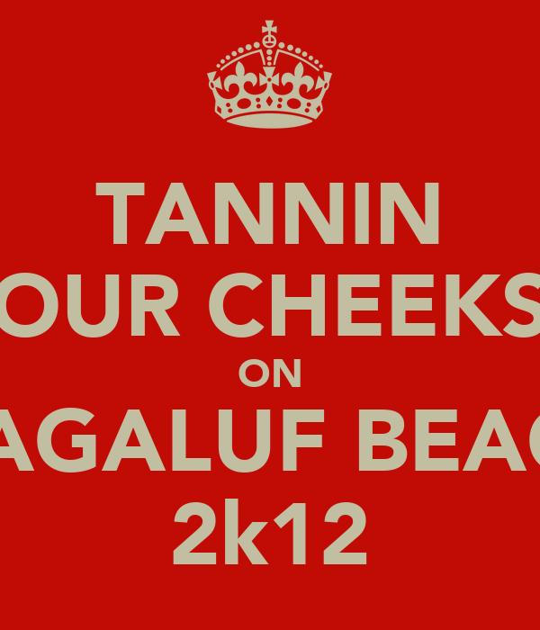 TANNIN OUR CHEEKS ON MAGALUF BEACH 2k12