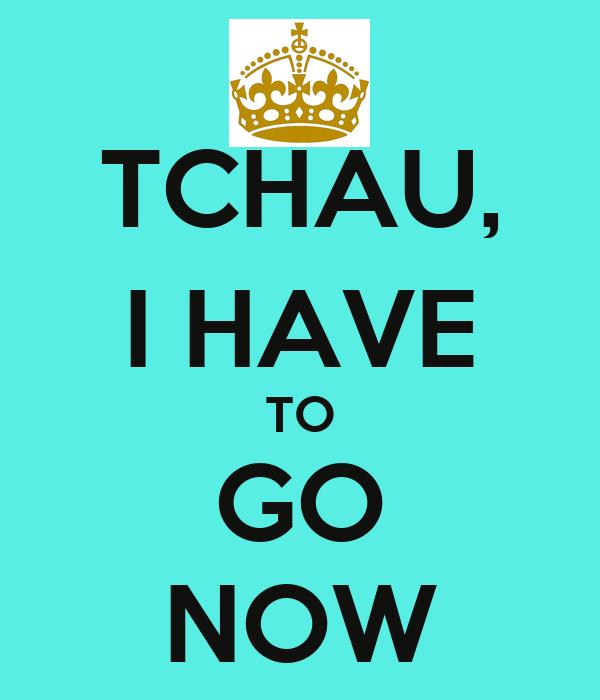 TCHAU, I HAVE TO GO NOW