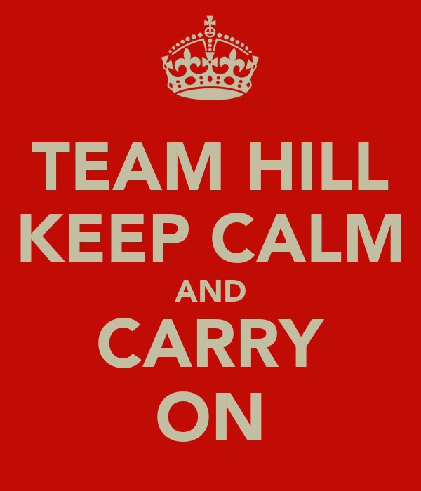 TEAM HILL KEEP CALM AND CARRY ON