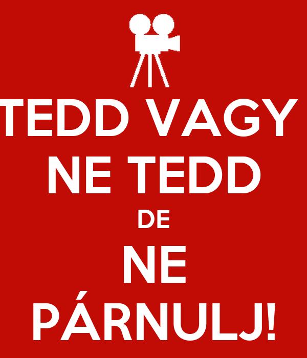 TEDD VAGY  NE TEDD DE NE PÁRNULJ!