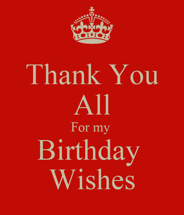 Thank you all for my birthday wishes poster julie keep calm o matic thank you all for my birthday wishes m4hsunfo