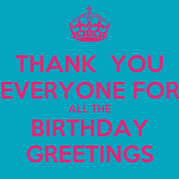 Thank you everyone for all the birthday greetings poster emer thank you everyone for all the birthday greetings m4hsunfo