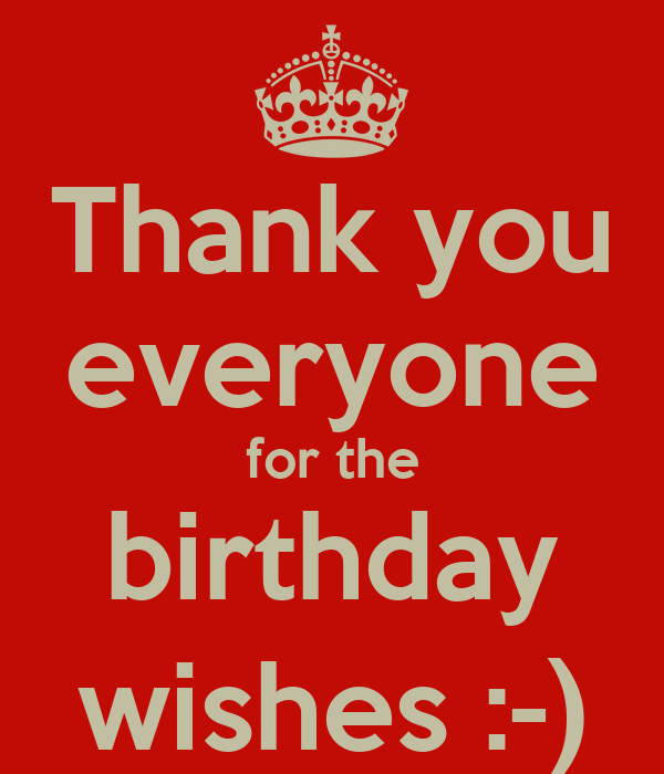 Thank you everyone for the birthday wishes :-)