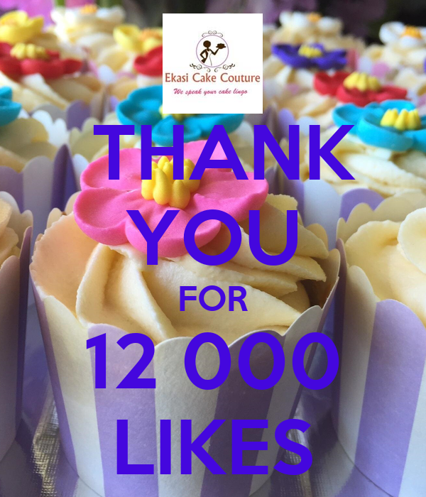 THANK YOU FOR 12 000 LIKES