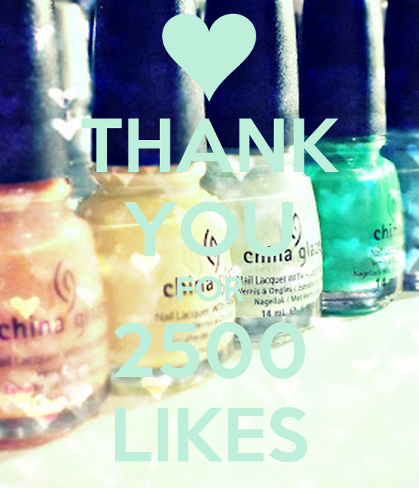 THANK YOU FOR 2500 LIKES