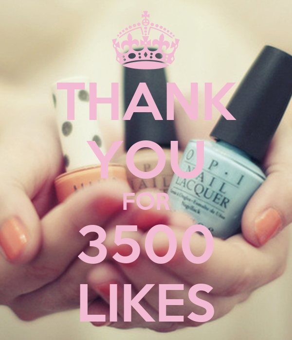 THANK YOU FOR 3500 LIKES