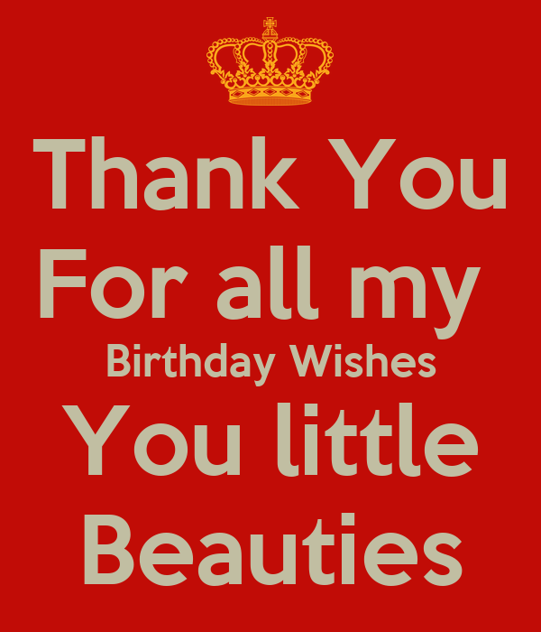 Thank You For all my  Birthday Wishes You little  Beauties