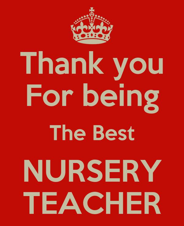 Best Nursery Teacher