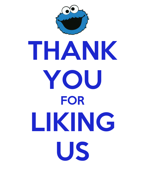 THANK YOU FOR LIKING US