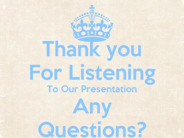 Any presentation