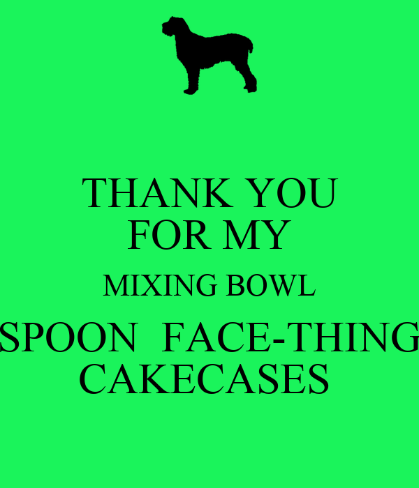 THANK YOU FOR MY MIXING BOWL SPOON  FACE-THING CAKECASES