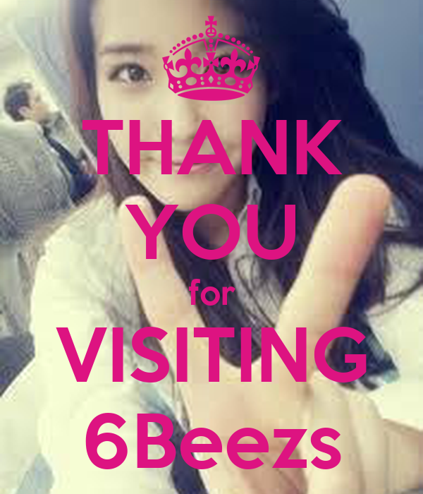 THANK YOU for VISITING 6Beezs