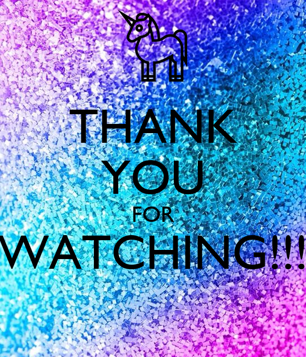 THANK YOU FOR WATCHING!!! Poster | Lara | Keep Calm-o-Matic