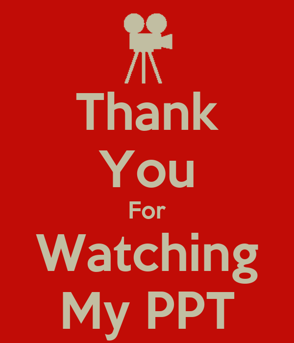 Thank You For Watching My PPT Poster | snehal joshi | Keep ...