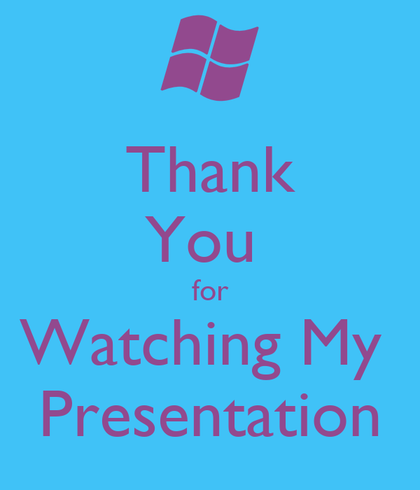 Thank You for Watching My Presentation Poster | daisy ...