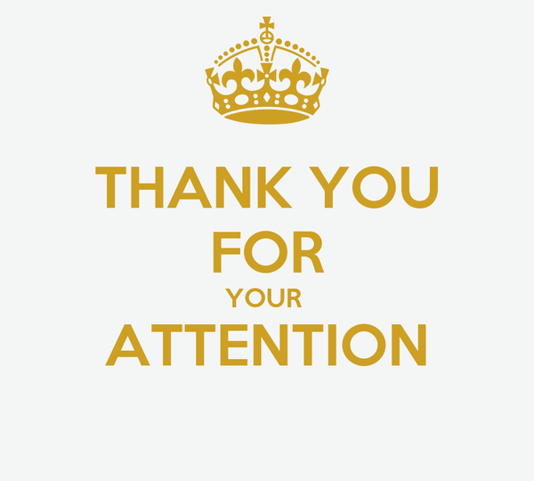 THANK YOU FOR YOUR ATTENTION Poster | marilyn | Keep Calm-o-Matic