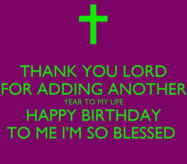 Thank You Lord Birthday Images