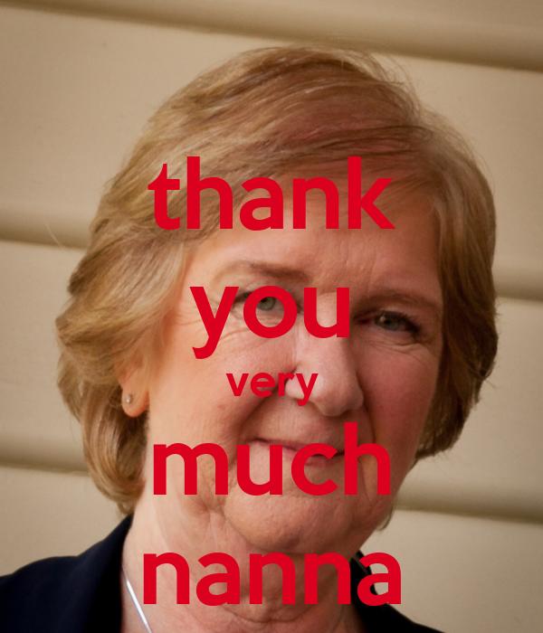 thank you very much nanna