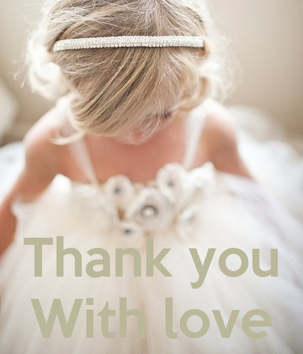 Thank you With love